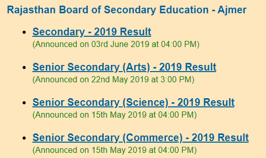 RBSE 12th Result 2020 Date Rajasthan Board 12th Class Result Kaise Check Kare