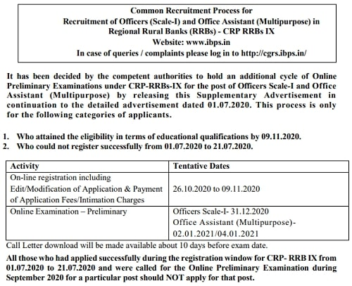 IBPS RRB Recruitment 2020 Notification 9638 Post IBPS RRB PO/ Clerk 2020