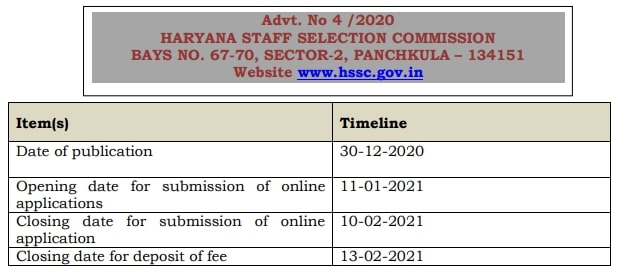 HSSC Police Constable Bharti 2021 Notification for 7298 Vacancy