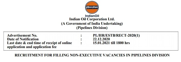 IOCL Recruitment 2021 Apply Online for 47 Engineering Assistant and Technical Attendant Posts